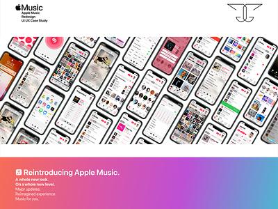 Apple Music App Redesign UI UX Case Study ux case study redesign design apple design ios apple music apple case study animation interaction design user interface adobe photoshop adobe illustrator adobe xd adobe product design user experience ui ux ux ui