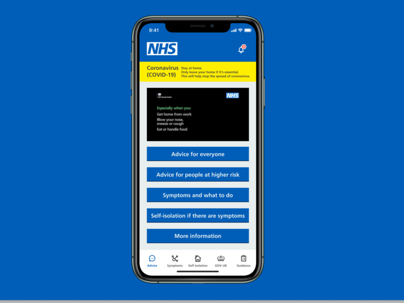 COVID-19 NHS Information App UI Concept