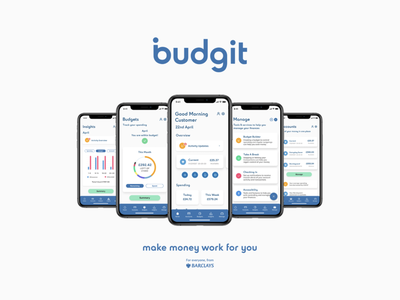 budgit by Barclays app ios iphone mobile ux ui adobe interaction design design app product design