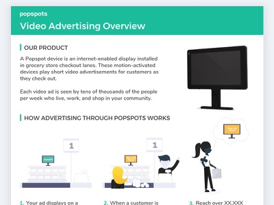 Video Advertising Overview pricing pricing sheet layout overview illustration print
