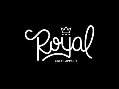 Royal Greek Aparrel handlettering typography branding vector design logo design logotype logo