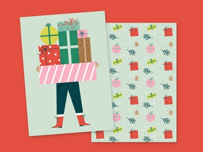 Christmas Presents for Mollie Makes patterns presents editorial illustration editorial mollie makes holidays christmas pattern procreate photoshop drawing illustration