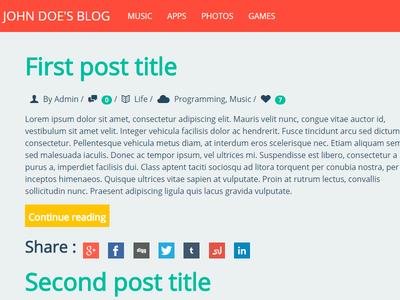 Flat Blog