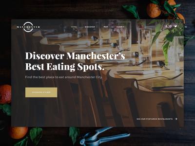Manchester Food - Discover food ui design web website