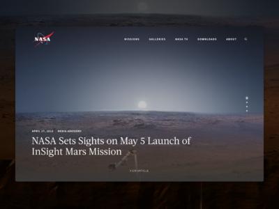 NASA   Landing Page Concept ui nasa universe space design web