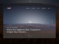 NASA   Landing Page Concept