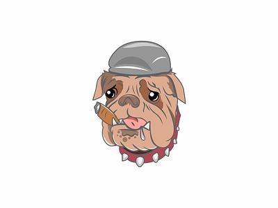 dog animation icon design logo