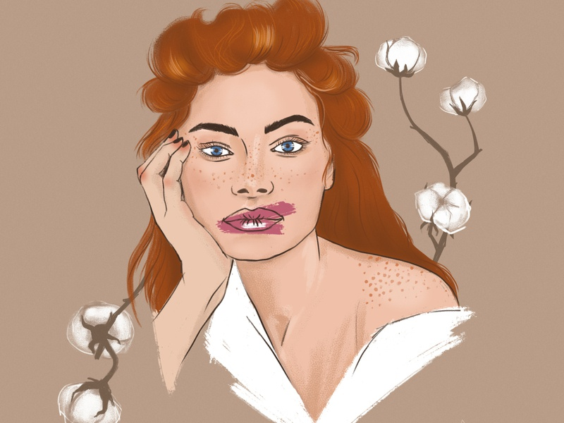 Ginger girl illustration niki-kiki woman art illustration