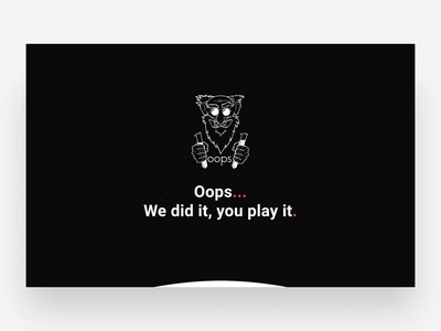 Oops11 – Game Developer's Website motion parallax interaction animation dark mode web design web site ios app store developer game interface ux ui