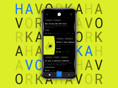 Havorka – Anonymous Chat animation interaction motion swipe dark mode dark ui dark anonymous messenger chat interface mobile ui ui app design mobile ios mobile app app