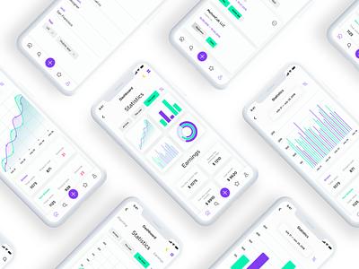 App analytics | White concept design minimalistic simple android ios application app sketch ui ux