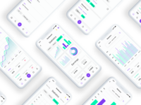 App analytics | White concept design minimalistic simple android ios application app sketch ui ux