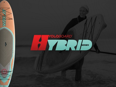 "YOLO 10'6"" Hybrid water sports product design surf stand up paddle board adventure sup"