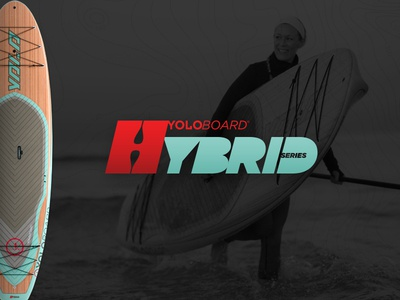 """YOLO 10'6"""" Hybrid water sports product design surf stand up paddle board adventure sup"""