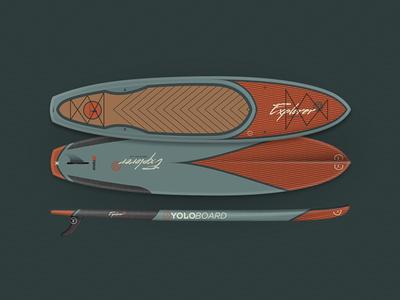 Yolo Hybrid Explorer  paddle board yolo paddle sup board water