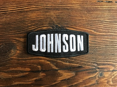 Johnson Van Solutions Patch sprinter van embroidered van logo typography patch
