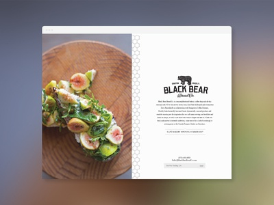 Black Bear Bread Co - Landing Page bear tile restaurant food bread cafe website