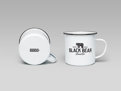 Black Bear Bread Co - Coffee Mugs cafe branding mugs coffee restaurant bear