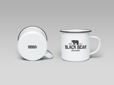 Black Bear Bread Co - Coffee Mugs cafe branding mugs coffee restaurant bear