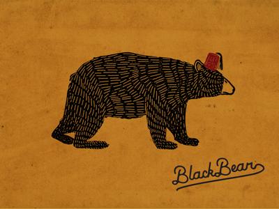 Shriner Bear black bear hat cafe restaurant bear shriner