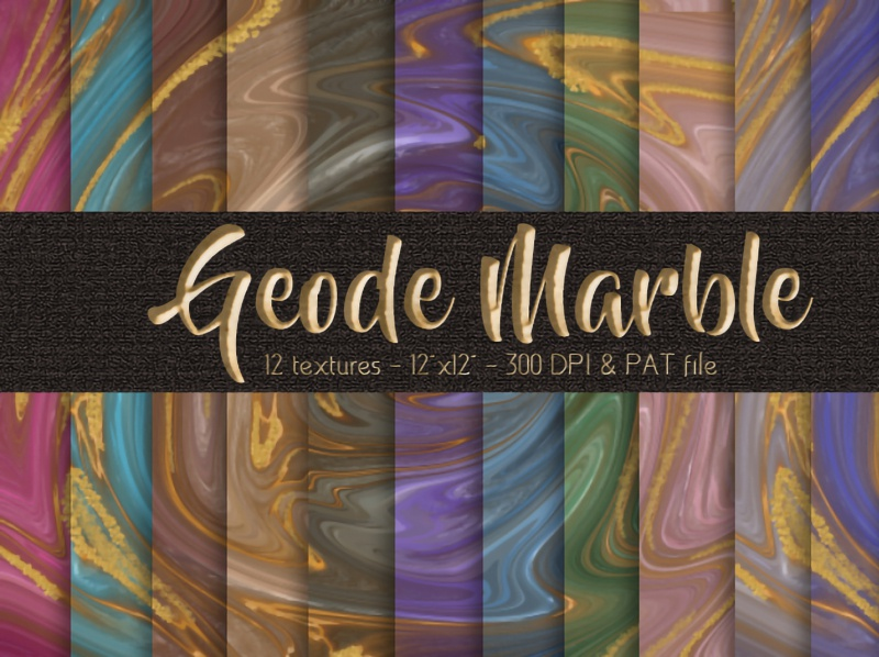 Geode Marble Digital Papers Set kit illustration photoshop branding design social media background background digital papers digital papers swirl marble gold agate geode