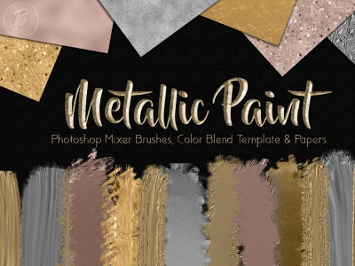 Metallic Paint Creators Kit digital papers papers kit brushes photoshop