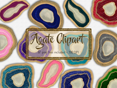 Agate Clipart Set hand drawn type hand drawn clipart agate design branding photoshop