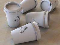 MODEL A TAKEAWAY COFFEE CUP INSIDE CINEMA 4D