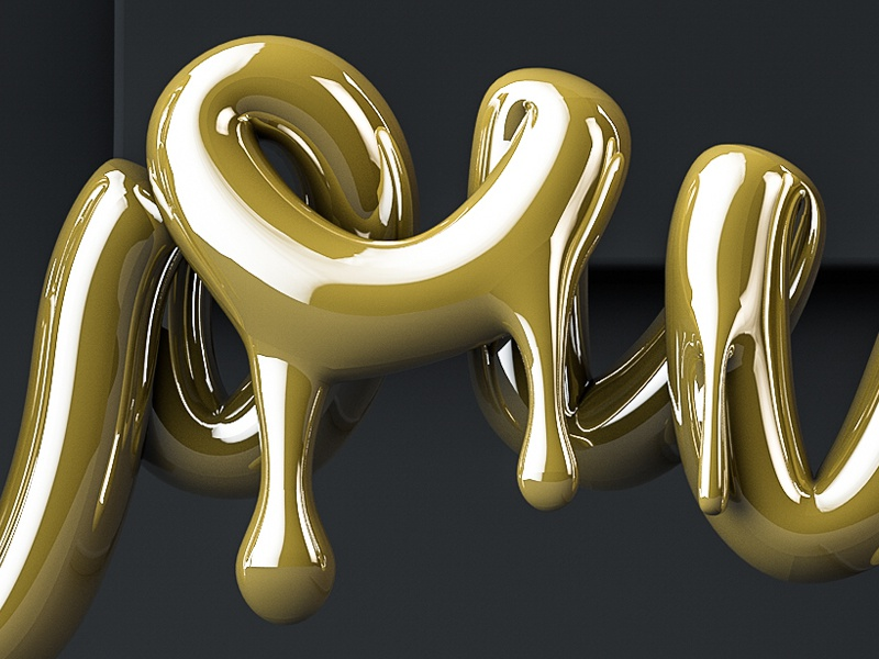 DRIPPING GOLD TEXT CINEMA 4D TUTORIAL by Sean Dove on Dribbble