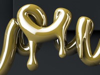 DRIPPING GOLD TEXT CINEMA 4D TUTORIAL