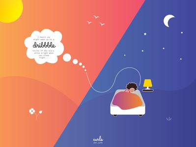 Do dreams turn into reality? storytelling design illustration