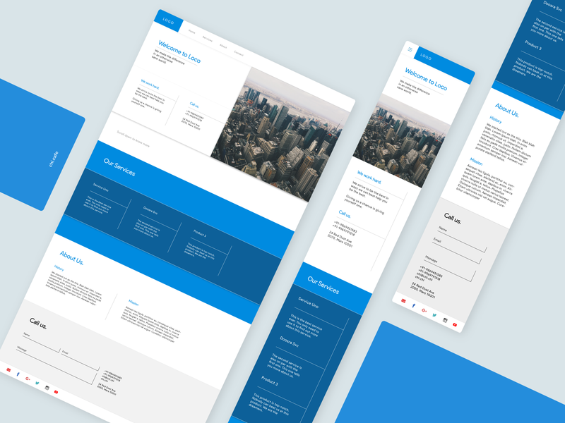 Website Template - website design minimalism user interface web