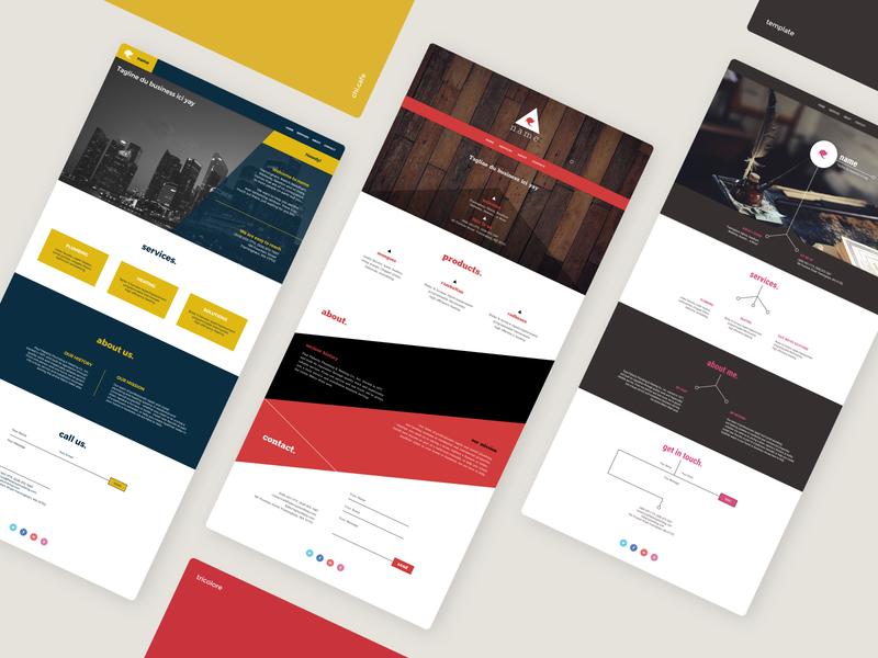 Website Templates color theme minimalism web design ui web