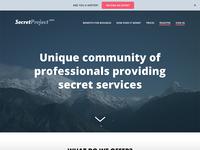 Secret Landing Page