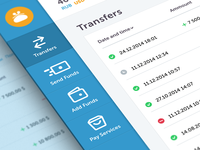 Menu & Transfers
