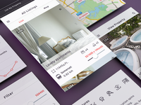 Greyloft - mobile app ios app icons real estate booking list item property stats