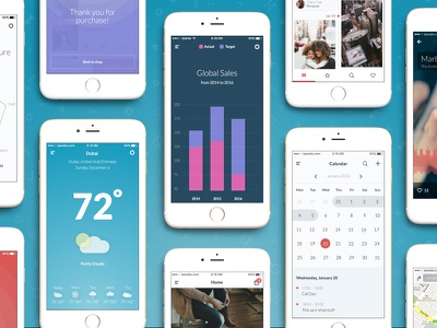 UI Kit ui kit sketch psd mobile ios e-commerce shop social