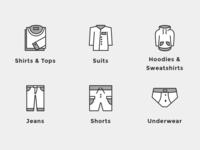 Men's wear icons