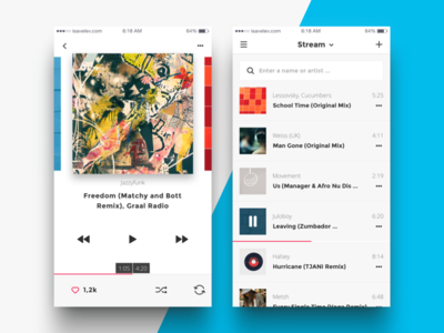 Music Player ios ios9 ui kit mockup sketch psd music player list artist album