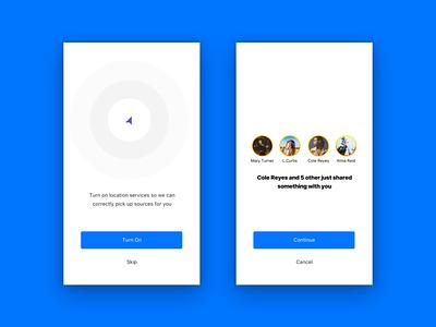 Dialogs location social dialog design app ios