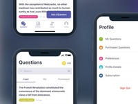 Article Feed & Profile Screens for iOS