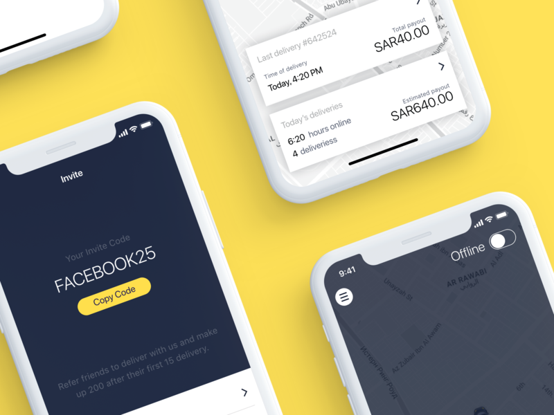 On-demand Delivery App - New Case Study on Behance behance project behance android mobile app ios arabian arabic uber design on-demand delivery taxi uber
