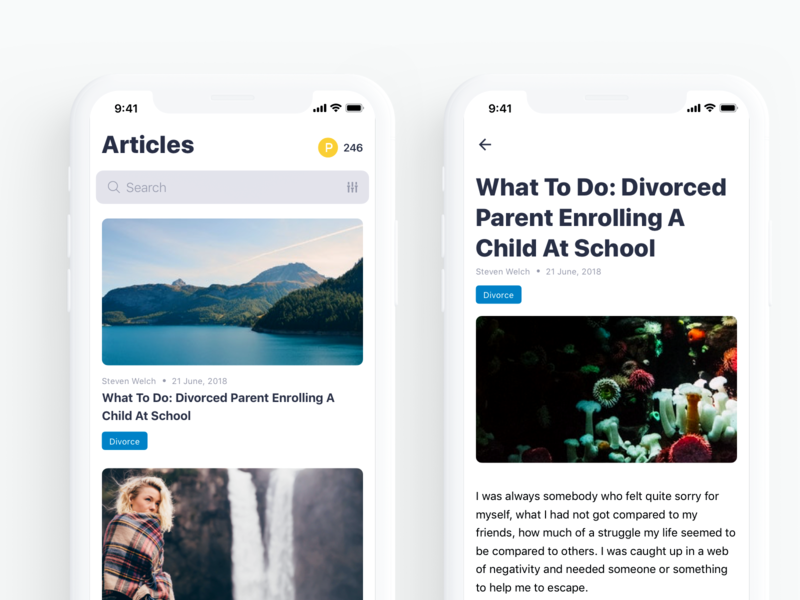 Article Feed news feed news feed article design article page article reader ux ios typography iphone mobile
