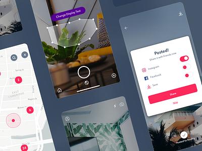 Augmented Reality Social iOS App ios app ar augmented reality photo app camera social mobile ui iphone