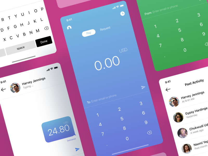 Money Transfer Chat App money chat banking transfer money app money transfer fintech finance ios mobile app chat app chat bot finance app bank card credit card transaction transactions transfers