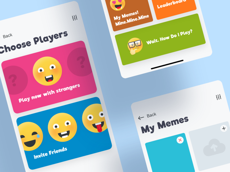 Meme Fight iOS Game ios game meme icon emoji emojis emoji set icons design icons mobile app typography iphone ui game app gamification gaming gaming app smile smiles