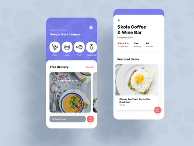 Food Delivery Service food and drink food delivery application food icons food and beverage delivery on-demand mobile cuisine ios app cafe food design food delivery app food  drink food app food