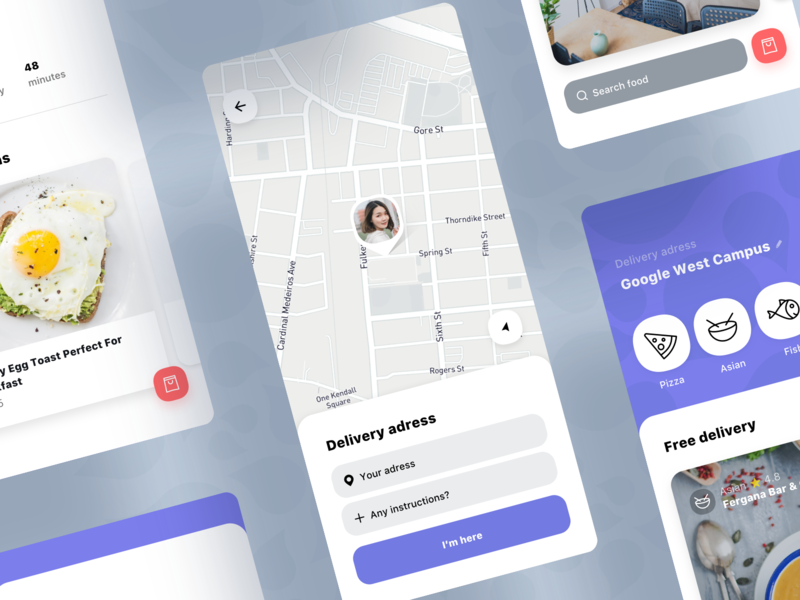Delivery Address | Food Delivery Service location pin map markers location map food food app food  drink food delivery app food design cafe app ios cuisine mobile on-demand delivery food and beverage food icons food delivery application food and drink