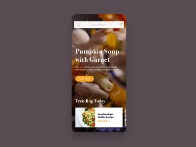 Food App Animation Concept interface animation animation animation after effects recipe recipes recipe app recipe book recipe card cook cookbook cooking cooking app food food app food and drink food and beverage app mobile instruction directions