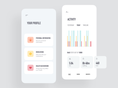 Medical App / Profile & Activity
